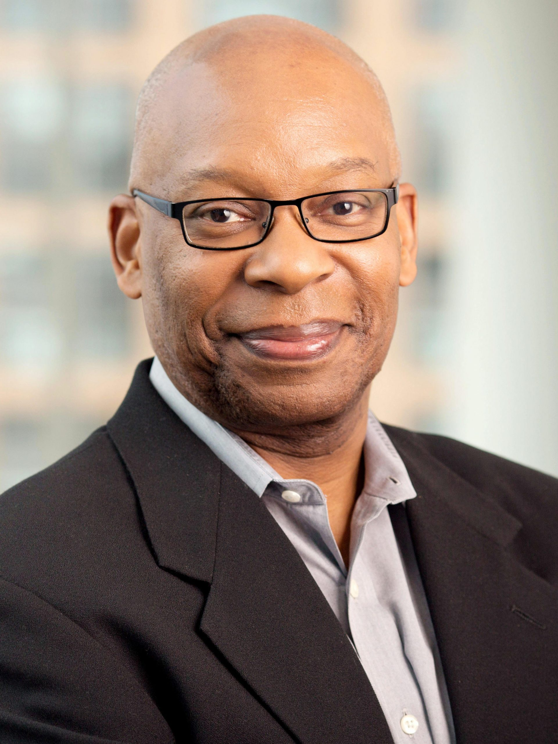 Headshot of Keith Jenkins at the NPR offices in Washington, DC. (2018 Square)